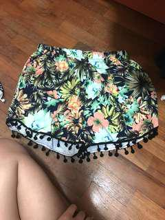 Tropical Pom Pom Shorts