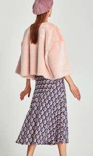 Zara Faux Fur Crop Top - Size M - BNWT