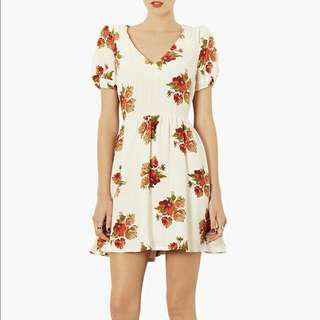 Topshop Autumn Floral Tea Dress