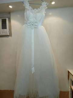 Price reduction~Brand New White Wedding Gown with Ribbon☺