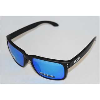 2211d93f315e4 Authentic Brand New in Box Oakley Holbrook OO9102-F055 Matte Black with Prizm  Sapphire Polarized