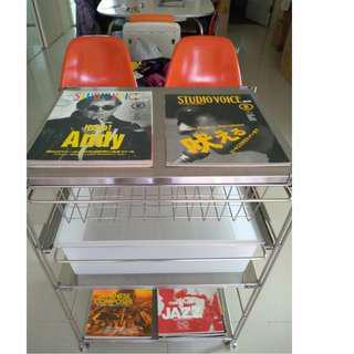 (二手 歡迎議價) 日本 MUJI 無印良品 SUS 不銹鋼 層架 寬56×深41×高84cm 書櫃 自由組 網籃 追加