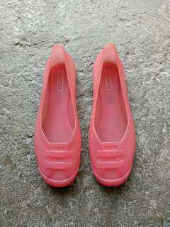 Lacoste jelly shoes pink