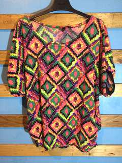 Colorful oversize blouse