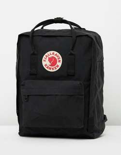 Fjallraven Kanken Black Medium Backpack