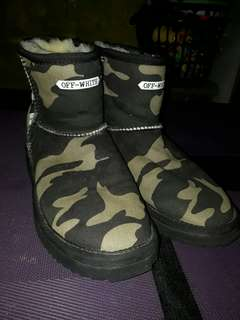 Off-White Camouflage Boots Authentic