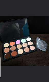 🚚 Promotion While Stock Last!! 15 Colors Contour Palette & Silisponge Set