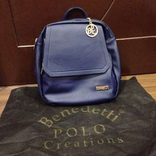 ❗️PRICE MARKDOWN❗️Benedetti Polo Creations Leather Backpack (Blue)