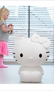 Big large 50cm tall hello kitty night lamp colour changing