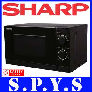 🚚 Sharp Microwave R20A0 Mechanical. In Black. 20 Litres Capacity. 1 Year Warranty.