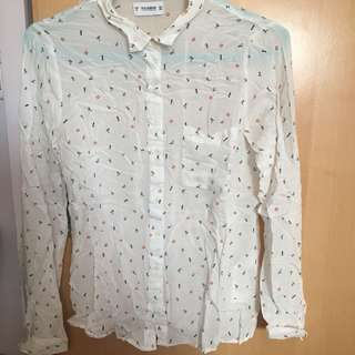 Pull and bear pattern shirt pull&bear 圖案 襯衫 恤衫