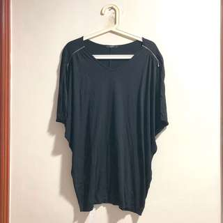 M)phosis black oversized top