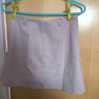 Pastel pink a line skirt with lace underlying 粉紅 半身 半截 短裙