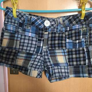 I.T brand Hyoma checked blue shorts 格仔 藍色 短褲