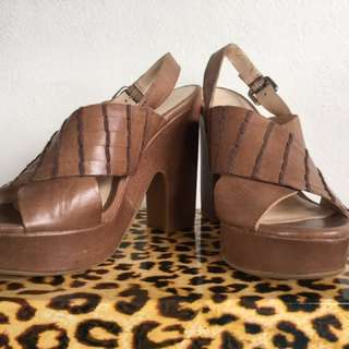 🆕 Wittner Leather Platform Shoes Size 6.5 Or 37