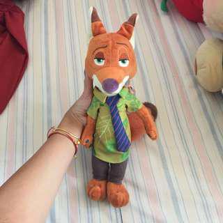 迪士尼 nick 狐狸公仔