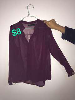 Blouses worn once