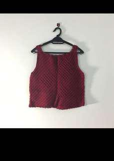 Red Knitted Top