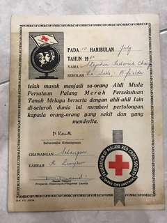 Vintage Federation of Malaya Certificate