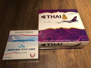 Thai Airways International & KLM 1:200 (set of 2 items)