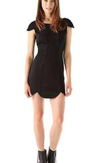NEW FINDERS KEEPERS BLACK SCALLOP DRESS