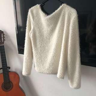 💕Oversized fluffy white jumper