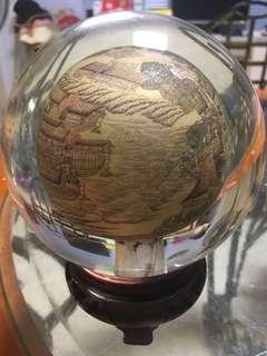 清明上河圖 內畫 玻璃球 (丁五年 冬維軒)