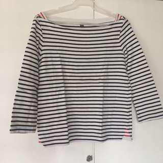 Uniqlo Long 3/4 Stripes Sleeves