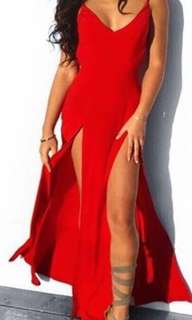 New Red maxi formal dress