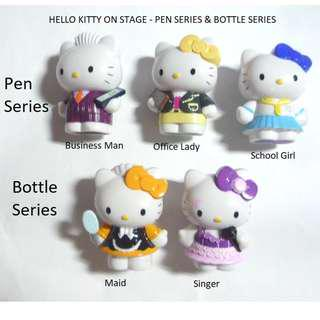 1 New  Limited Edition promo HELLO KITTY Collectable ON STAGE - PEN SERIES  / BOTTLE SERIES...brand new in box SINGAPORE in 2009