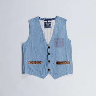 Vintage Denim Head Vest western