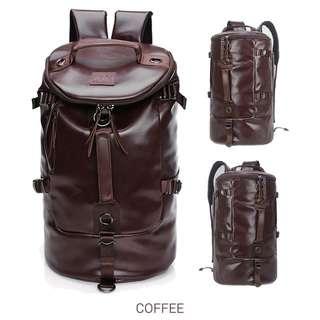 Stylish Korean style bag backpack brown
