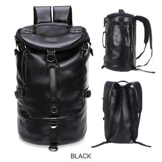 Stylish Korean style bag backpack black