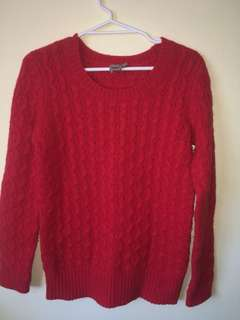 ASOS WOOL Red Sweater NWOT 10