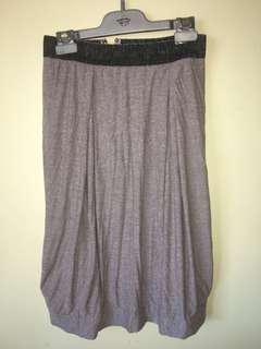 Mad Cortes purple marle bubble hem skirt