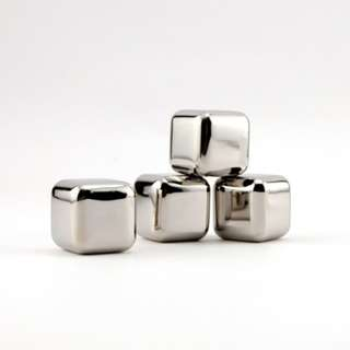 Franmara stainless steel ice cubes deluxe / whiskey stones - set of 4