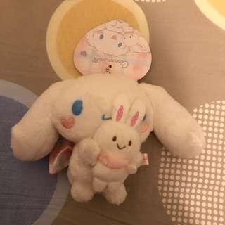 日本Sanrio Puroland 限定肉桂狗和Wish me mel 吊飾 Japan Sanrio Puroland Limited Cinnamoroll and Wish me Mel keychain
