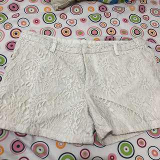 FOR ME WHITE LACE SHORTS