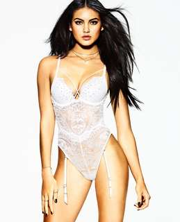 La Senza Bridal White Push Up Lace Bodysuit