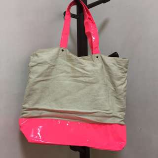 Oversized Neon Pink Tote Bag