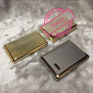 Classy Silver and Gold Metal Cigarette Cases