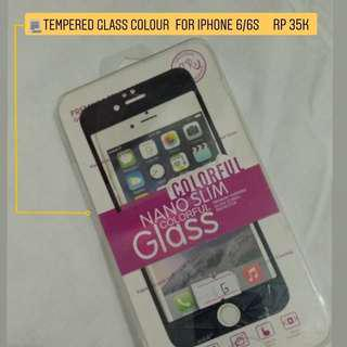 Tempered Glass Iphone 6/6s Colour Black