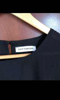 Cotton ink black sheer