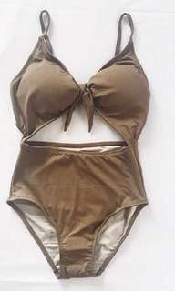LAST PRICE! Wave Swimwear Piper Suit in Tan