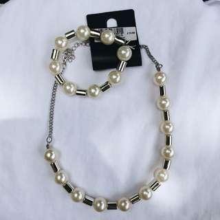 Pearl Bracelet/Necklace Set