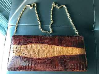 Original Crocodile Skin Handbag 1981