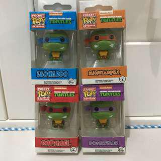 Funko Pop Teenage Mutant Ninja Turtles Key chain conplete set