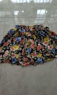 BNIB Black floral Chiffon skirt