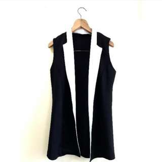 Vest black and white