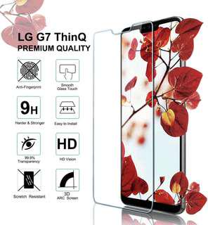 LG G7 ThinQ 透明鋼化防爆玻璃 保護貼 9H Hardness HD Clear Tempered Glass Screen Protector (包除塵淸㓗套裝)(Clearing Set Included)